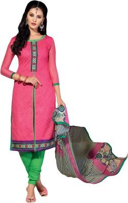 Meghali Chanderi Solid Salwar Suit Dupatta Material