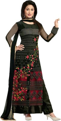 KrishaFashion Georgette Embroidered Semi-stitched Salwar Suit Dupatta Material