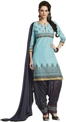Aai Shree Khodiyar Art Cotton Embroidered Semi-stitched Salwar Suit Dupatta Material