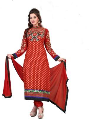 Styles Closet Jacquard Embroidered Salwar Suit Dupatta Material