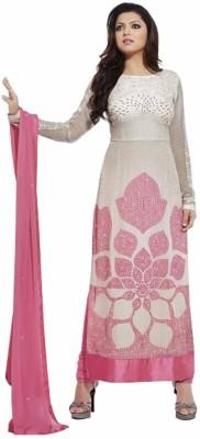 Shreeji Fashion Crepe Embroidered Semi-stitched Salwar Suit Dupatta Material