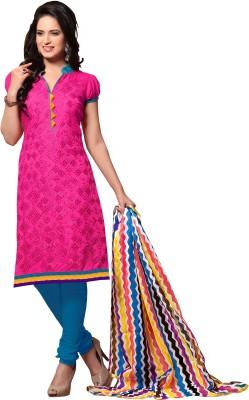 Aasvaa Chanderi Embroidered Salwar Suit Dupatta Material