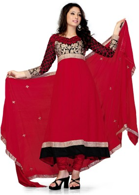 RDFAB Georgette Solid Semi-stitched Salwar Suit Dupatta Material
