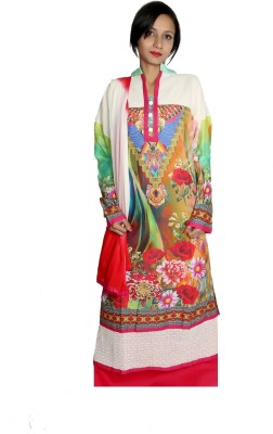 Estelo Cotton Polyester Blend Printed Semi-stitched Salwar Suit Material