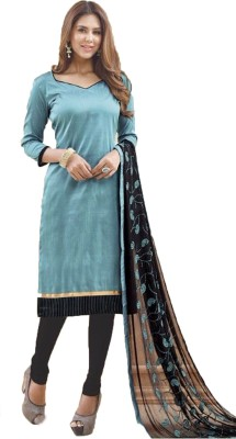 Cilver Fashion Chanderi Embroidered Salwar Suit Material