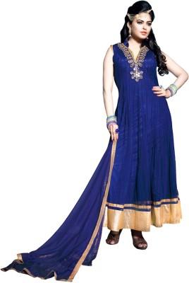 Fashion Fiza Net Embroidered Semi-stitched Salwar Suit Dupatta Material
