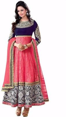 Kataria Fabrics Georgette Embroidered Semi-stitched Salwar Suit Dupatta Material