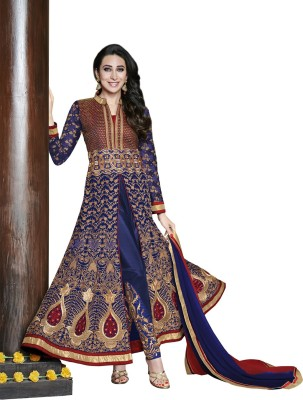 Vastrani Georgette Embroidered Semi-stitched Salwar Suit Dupatta Material