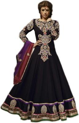 Fashion On Sky Georgette Self Design Semi-stitched Salwar Suit Dupatta Material (Unstitched)