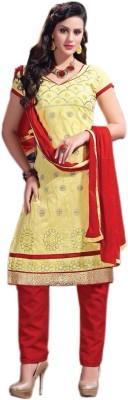 Kiaraz Collection Cotton Silk Blend Embroidered Salwar Suit Dupatta Material