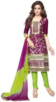 Navkar Sales Cotton Embroidered Salwar Suit Dupatta Material