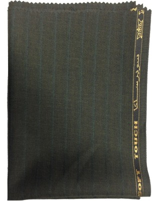 Ramkumar textile Polyester, Viscose Striped Trouser Fabric