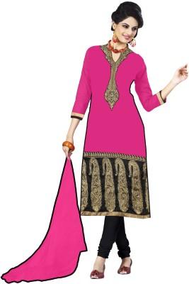 Saanvee Georgette Embroidered Semi-stitched Salwar Suit Dupatta Material