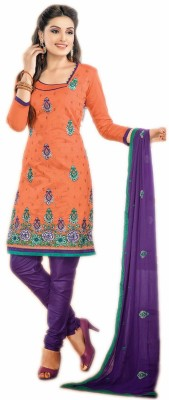 Jayanti Sarees Chanderi Embroidered Dress/Top Material