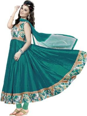 Prachi Silk Mills Silk Printed Semi-stitched Salwar Suit Dupatta Material