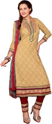Shubharambh Creation Crepe Printed Salwar Suit Dupatta Material