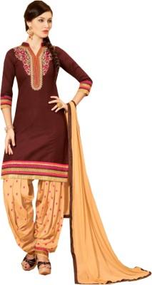 Jayanti Sarees Cotton Embroidered Salwar Suit Dupatta Material