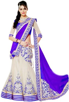 Krishna Self Design Women's Lehenga, Choli and Dupatta Set