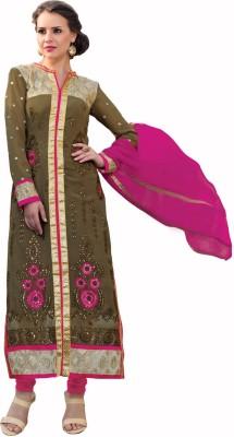 Parishi Fashion Georgette Embroidered Salwar Suit Dupatta Material