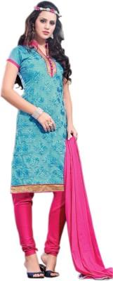 Kiaraz Collection Cotton Silk Blend Self Design Salwar Suit Dupatta Material