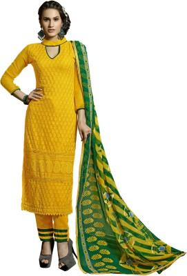 Prachi Silk Mills Georgette Embroidered Salwar Suit Dupatta Material