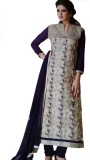 Blue Line Fashion Georgette Embroidered ...