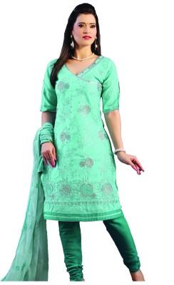 Minu Suits Cotton Self Design Salwar Suit Dupatta Material