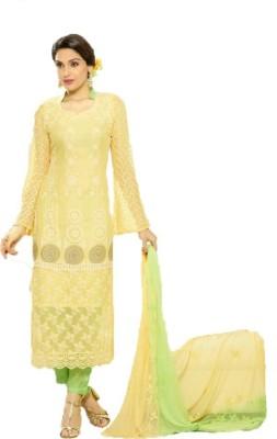 Shree Ganapati Textile Chiffon Embroidered Salwar Suit Dupatta Material