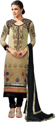 Bansari Georgette Self Design Semi-stitched Salwar Suit Dupatta Material