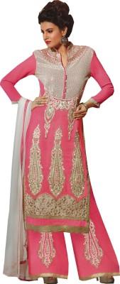 Tazeen Womens World Silk Embroidered Salwar Suit Dupatta Material
