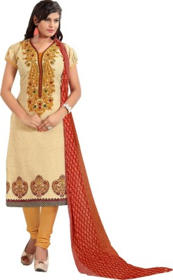 Fashion Ritmo Cotton Printed Semi-stitched Salwar Suit Dupatta Material
