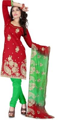 Lunawat Synthetics Cotton Embroidered Salwar Suit Dupatta Material