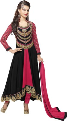 Gopalvilla Georgette Embroidered Semi-stitched Salwar Suit Dupatta Material