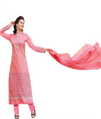 The Four Hundred Jacquard Embroidered Semi-stitched Salwar Suit Dupatta Material