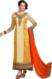 mGm Creation Georgette Embroidered Semi-...