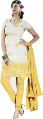 Gilora Fashions Cotton Embroidered Salwar Suit Dupatta Material