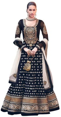 Fexy Georgette Embroidered Semi-stitched Salwar Suit Dupatta Material