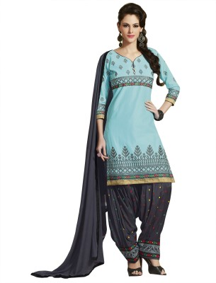 Kvsfab Cotton Embroidered Salwar Suit Dupatta Material