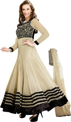 Vibes Net Embroidered Salwar Suit Dupatta Material