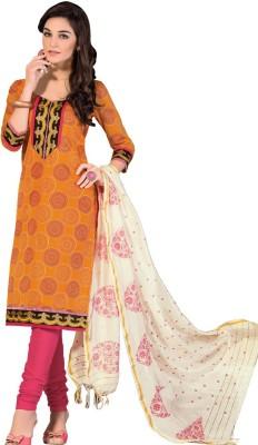 Ashika Chanderi Floral Print Salwar Suit Dupatta Material
