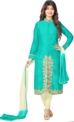 Metroz Cotton Embroidered Semi-stitched Salwar Suit Dupatta Material