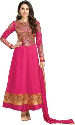 Eliza 4 Georgette Self Design Semi-stitched Salwar Suit Dupatta Material