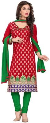 K D Collection Silk Embroidered Salwar Suit Dupatta Material