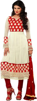 Vakaro Georgette Solid Dress/Top Material
