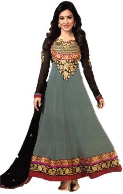 Empero Fashion Georgette Embroidered Semi-stitched Salwar Suit Dupatta Material