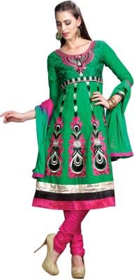 Aagamanfashion Cotton Self Design Semi-stitched Salwar Suit Dupatta Material