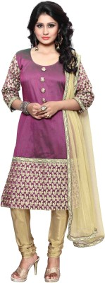 The Four Hundred Cotton Silk Blend Embroidered Salwar Suit Dupatta Material