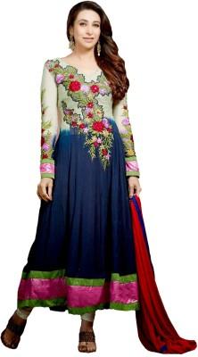 Fstore Georgette Embroidered Semi-stitched Salwar Suit Dupatta Material