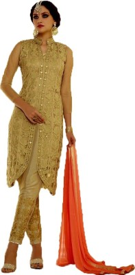 ahujaenterprise Net, Linen Embroidered Salwar Suit Dupatta Material