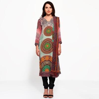 Bhelpuri Crepe Printed Dress/Top Material